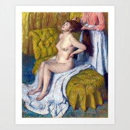 Edgar Degas Woman Having Her Hair Combed Art Print