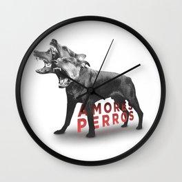 Amores Perros Wall Clock