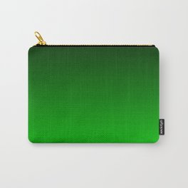 Black and Lime Gradient Carry-All Pouch