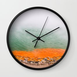 Orange Edged Wall Clock