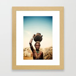 omo valley tribal woman  Framed Art Print