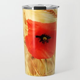 Poppies in the cornfield Travel Mug