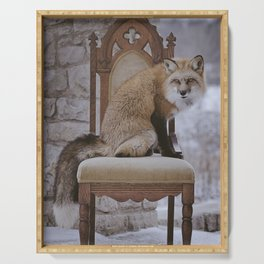 Fox on a Throne Serving Tray