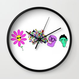 TRES POLILLAS Wall Clock