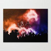 u2 Canvas Prints featuring U2 / Adam Clayton / The Edge by JR van Kampen