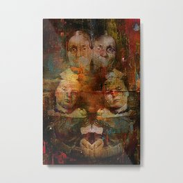 Twins intergenerational Metal Print