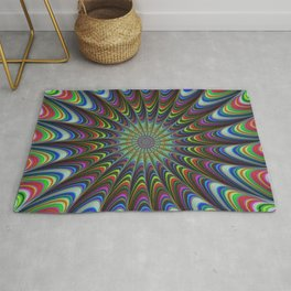 Psychedelic star Rug