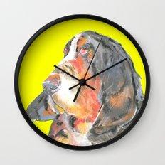 Basset Hound , Jiri Bures original art and design Wall Clock