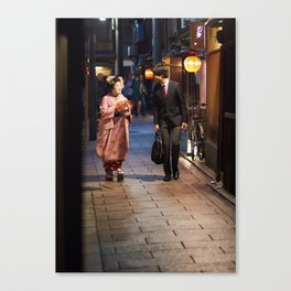 One Night in Gion Canvas Print
