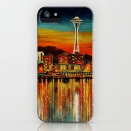 Seattle from Alki iPhone Case