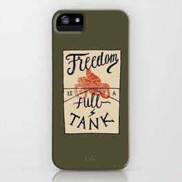 Freedom biker print iPhone Case