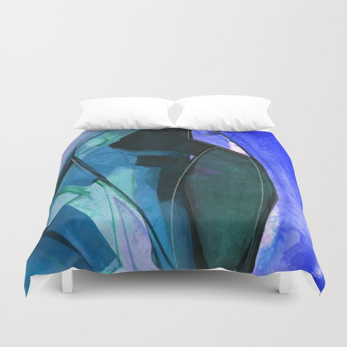 Abstraction 317I by Kathy Morton Stanion Duvet Cover