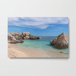 Paradise glimpse of Cala Mariolu, Gulf of Orosei, Sardinia. Metal Print