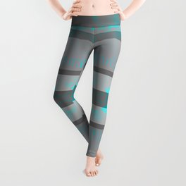 Southwestern Turquoise and Gray Leggings