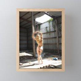 Beautiful Nude Blonde in Abandoned Warehouse (4) Framed Mini Art Print