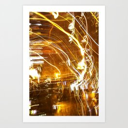 Hazy nights Art Print
