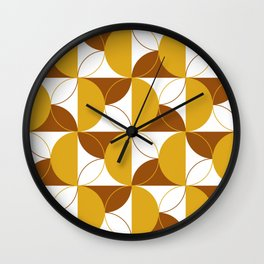 Geometric Spirals II Wall Clock