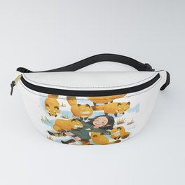 Snuggles with foxes Fanny Pack