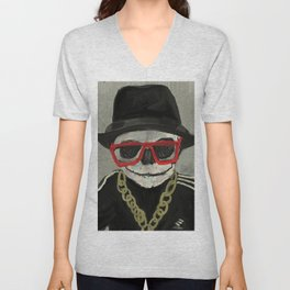 Skull DMC Hip Hop Baby - 719. Unisex V-Neck