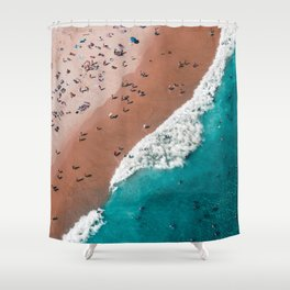 Surfers Surfing Bondi Beach Shower Curtain