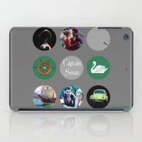 captain hook iPad Cases featuring Captain Swan by Your Friend Elle