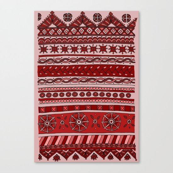Yzor pattern 005 red Canvas Print