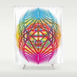 4 Corners of Abundance (wide) Shower Curtain