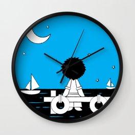 Midnight Harbour - Retraced Wall Clock
