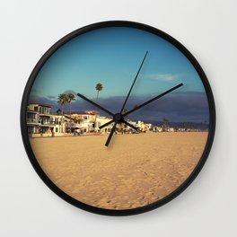 Newport Beach Houses Wall Clock