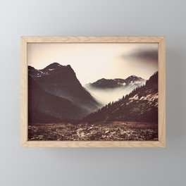 Montana Mountain Pass Framed Mini Art Print