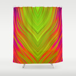 stripes wave pattern 3 w81 Shower Curtain