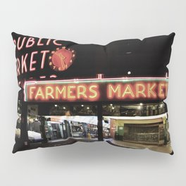 Pike Place Farmers Market - at night Pillow Sham