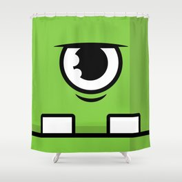 Monsters⁴ : Green Shower Curtain