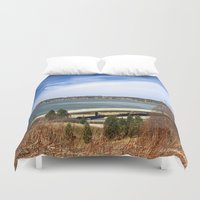 maine Duvet Covers featuring Maine Travel by Catherine1970