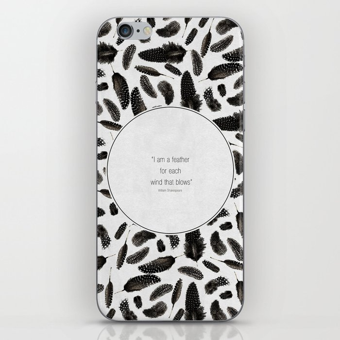 A feather for each wind that blows iPhone Skin