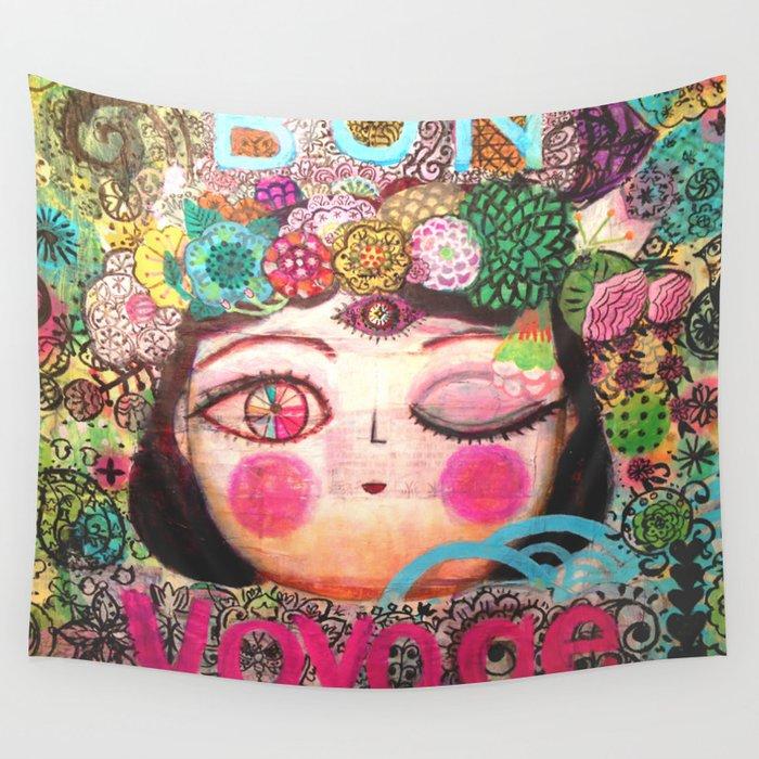 Bon Voyage Wall Tapestry