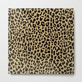 Neon Classic Leopard Metal Print