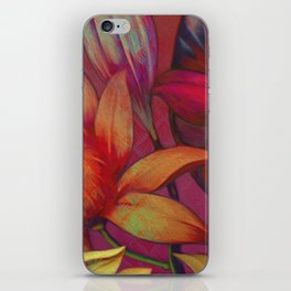 """""""Retro Giant Floral Pattern"""" iPhone Skin"""