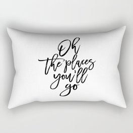 Dr quote,Printable Art,Oh The Places You'll Go,Travel Poster,Travel Gift,Nursery Decor,Quote Prints Rectangular Pillow