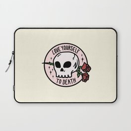 Love Yourself To Death Laptop Sleeve