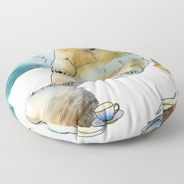 Polar Tea Party Floor Pillow