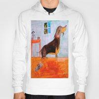 dachshund Hoodies featuring Dachshund by Caballos of Colour
