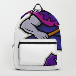 Hooded Medieval Executioner Mascot Backpack