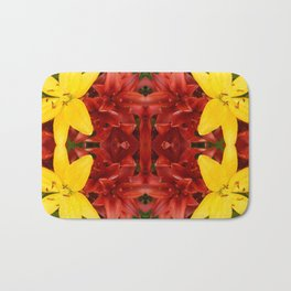 """A Gathering of Lilies"" Remix - 3 (2-1) [D4468~49] Bath Mat"