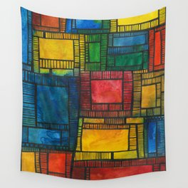 Primary Patchwork Wall Tapestry