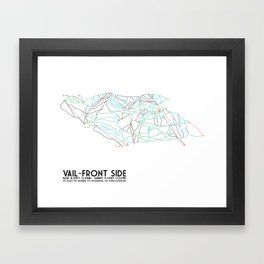 Vail, CO - Front Side - Minimalist Trail Map Framed Art Print