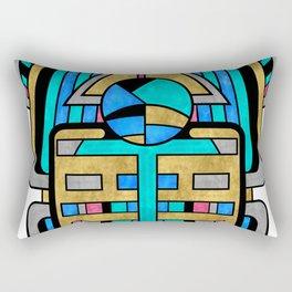 Scarabesque - Digital Art Deco Design Rectangular Pillow