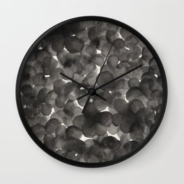 Monochromatic Impatiens  Wall Clock