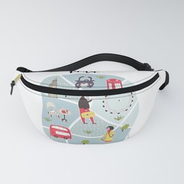 London Map Fanny Pack