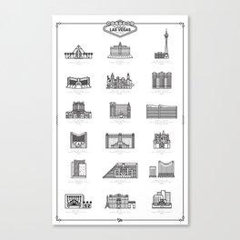 Las Vegas Icons Canvas Print